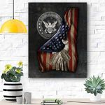 United States Navy U.S. Navy Flag Personalized Canvas Prints Wall Art - Matte Canvas