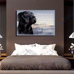 Black Labrador Dog Canvas Prints Wall Art - Matte Canvas #45096