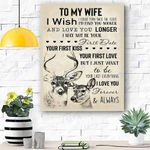 To My Wife Canvas Prints Wall Art - Perfect Gift For Wife - Matte Canvas #26308