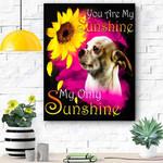 Chihuahua My Sunshine Canvas Print Wall Art - Matte Canvas