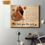 Chicken Canvas Prints Wall Art - Matte Canvas