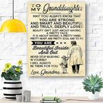 To My Granddaughter Canvas Print Wall Art - Matte Canvas #79358