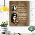 Bernese Remember Me Canvas Print Wall Art - Matte Canvas