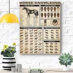 Horse Knowledge Canvas Print Wall Art - Matte Canvas #73727