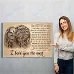 Owl I Love You The Most Canvas Print Wall Art - Matte Canvas
