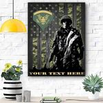 Custom Canvas Soldie U.S. Army Ranks Personalized Canvas - Matte Canvas