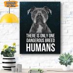 Pitbull Dog Canvas Prints Wall Art - Matte Canvas #24713