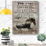 Horse Canvas Print Wall Art - Matte Canvas #64657
