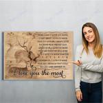 Reindeer Canvas Print Wall Art - Matte Canvas
