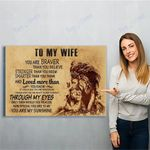 Lion To My Wife Canvas Print Wall Art - Matte Canvas
