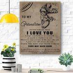 To My Grandson Football Canvas Print Wall Art - Matte Canvas #22306