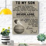To My Son Canvas Prints Wall Art - Perfect Gift For Son - Matte Canvas #27781
