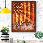 English Bulldog Dog Canvas Prints Wall Art - Matte Canvas #48323