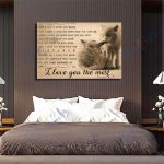 Wolf Canvas Prints Wall Art - I Love You The Most - Matte Canvas