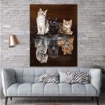 Cats Believe Canvas Prints Wall Art - Matte Canvas