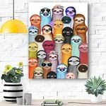 Sloth Canvas Prints Wall Art - Matte Canvas