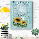Sunflower To My Daughter Canvas Print Wall Art - Matte Canvas #78217