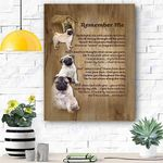 Pug Remember Me Canvas Print Wall Art - Matte Canvas