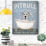 Pitbull Dog Canvas Prints Wall Art - Matte Canvas #90037