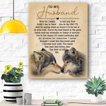 Wolf To My Husband Canvas Print Wall Art - Gift For Husband - Matte Canvas