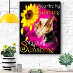 Yorkshire Terrier My Sunshine Canvas Print Wall Art - Matte Canvas