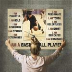 Custom Photo Basketball Personalised Canvas Prints Wall Art - Perfect Gift For Son  - Matte Canvas