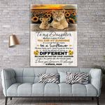 To My Daughter Lion Sunflower Canvas Print Wall Art - Gift For Daughter - Matte Canvas