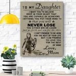 To My Daughter Viking Canvas Print Wall Art - Matte Canvas