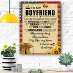 To My Boyfriend Soldier Canvas Print Wall Art - Gift For Boyfriend - Matte Canvas