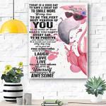 Flamingo Canvas Print Wall Art - Matte Canvas