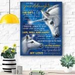To My Granddaughter Horse Canvas Print Wall Art - Matte Canvas #78978