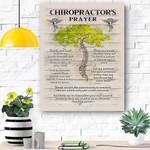 Chiropractor 's Prayer Canvas Print Wall Art - Matte Canvas
