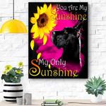 Great Dane My Sunshine Canvas Print Wall Art - Matte Canvas