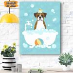 Brown Boxer Dog Canvas Prints Wall Art - Matte Canvas