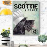 Scottish Terier The Kitchen Canvas Prints Wall Art - Matte Canvas