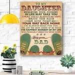 To My Daughter Canvas Print Wall Art - Gift For Daughter - Matte Canvas #67318