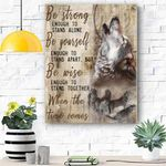 Wolf Be Strong Enough Canvas Prints Wall Art - Matte Canvas