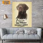 Chocolate Labrador Dog Canvas Prints Wall Art - Matte Canvas #31926