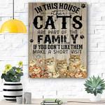 Cat Family Canvas Prints Wall Art - Matte Canvas