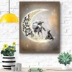 To My Daughter Canvas Wolf Print Wall Art - Gift For Daughter - Matte Canvas