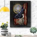 U.S. Coast Guard Flag Personalized Canvas Prints Wall Art - Matte Canvas