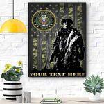 Custom Canvas U.S. Army Personalized Canvas Print Wall Art - Matte Canvas
