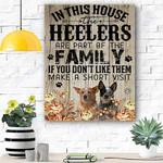 Heeler Family Canvas Prints Wall Art - Matte Canvas