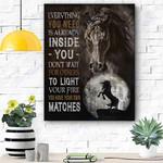 Horse Inside You Canvas Print Wall Art - Matte Canvas