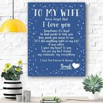 Custom Canvas To My Wife Personalized Canvas Print Wall Art - Matte Canvas #46682