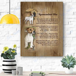 Russel Terrier Remember Me Canvas Print Wall Art - Matte Canvas