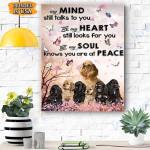 Cocker Spaniel Heart Canvas Prints Wall Art - Matte Canvas