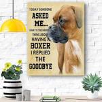 Boxer Dog Canvas Prints Wall Art - Matte Canvas #86510