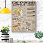 Corgi Dog Canvas Prints Wall Art - Matte Canvas #82492
