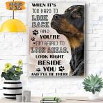 Rottweiler Dog Canvas Prints Wall Art - Matte Canvas #39122